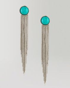 Turquoise Multi Chain Duster Earrings