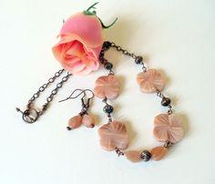 Gemstone Handmade Jewelry Wire Wrapped Necklace by simplysuzie2, $30.00
