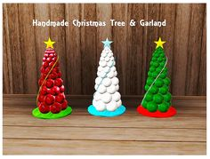 【Objects】Handmade Christmas Tree & Garland Set. [Find>Kids>Toy Or Plants]