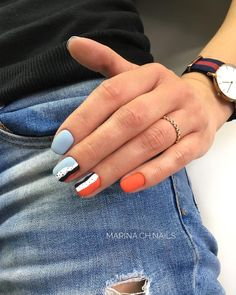 Want some ideas for wedding nail polish designs? This article is a collection of our favorite nail polish designs for your special day. Cute Acrylic Nails, Cute Nails, Pretty Nails, Diy Nail Designs, Nail Polish Designs, Diy Design, Nail Manicure, Diy Nails, Gel Manicures