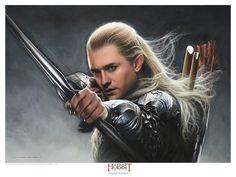 jerry vanderstelt hobbit   jerry_vanderstelt_the_hobbit_legolas_greenleaf_art_print
