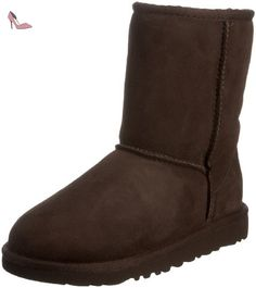 UGG K Classic Short, Bottes à enfiler mixte enfant - brown (Chocolate), 22.5 EU - Chaussures ugg (*Partner-Link)