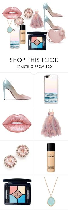 """Dress of Dreams"" by theperfectstorm ❤ liked on Polyvore featuring Prada, Casetify, Lime Crime, Marchesa, Dana Rebecca Designs, Bare Escentuals and Christian Dior"