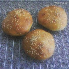Kváskové žemle na hamburger - Recept