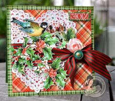 A gorgeous The Twelves Days of Christmas card from Susan! Wow wow #graphic45 #cards