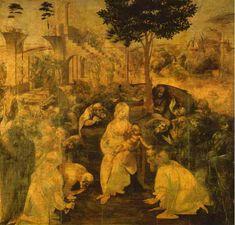 """""""Adorazione dei Magi"""", inchiostro di Leonardo Da Vinci (1452-1519, Italy)"""