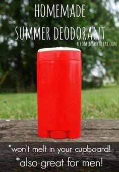 DIY Deodorant -easy homemade summer deodorant for men (that won't melt in your cupboard)