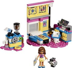 ItemName: Lego Olivia's Deluxe Bedroom, ItemType: Set, ItemNo: Buy and sell LEGO parts, Minifigs and sets, both new or used from the world's largest online LEGO marketplace. Legos, Elliev Toys, Kids Toys, Lego Friends Sets, Lego Clones, Nintendo, Kids Electronics, Buy Lego, Sims 4 Game