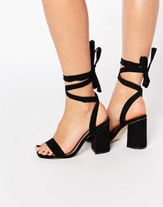ASOS HANDSHAKE Lace Up Heeled Sandals