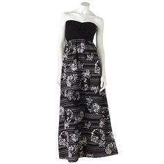 Derek Heart Floral Tube Maxi Dress  sale $34.99