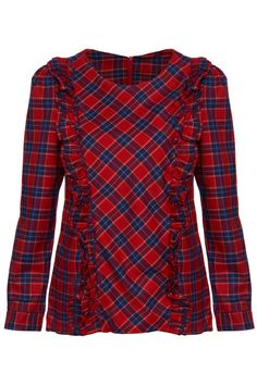 ROMWE | Red Plaid Long-sleeved Shirt, The Latest Street Fashion