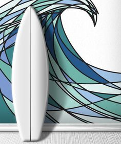 Wall Mural Decal Sticker Decani Ocean Wave Color #MCrespo130 | Stickerbrand wall art decals, wall graphics and wall murals.