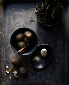 hungry ghost food + travel - new - bellocq. chinese tea eggs and tea salt. Tempura, Food Photography Styling, Food Styling, Dark Photography, Tea Eggs, Edible Arrangements, Foodie Travel, Raw Food Recipes, Savoury Recipes