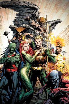 Second & Third Tier Heroes: Aqua-Man, Martian Manhunter, Hawk-Woman, Hawk-Man, & Dead-Mean