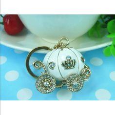 White Cinderella pumpkin carriage keychain ring White Cinderella pumpkin carriage keychain ring Jewelry