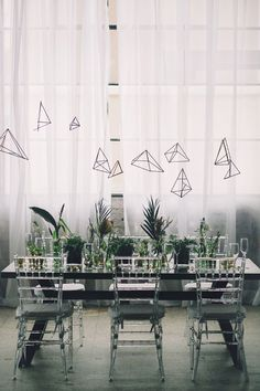 modern geometric wedding ideas - photo by Echard Wheeler Photography http://ruffledblog.com/modern-styled-engagement-party