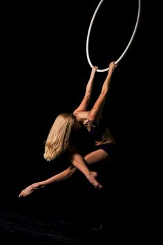 Sarah Romanowsky lyra/aerial hoop. Beautiful skinny cat