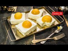 CIASTO JAJKO SADZONE BEZ PIECZENIA NA DUŻĄ BLACHĘ - bardzo łatwe, szybkie ciasto bez piekarnika wyglądem przypominające jajka sadzone. Nutella, Eggs, Breakfast, Kuchen, Morning Coffee, Egg, Egg As Food