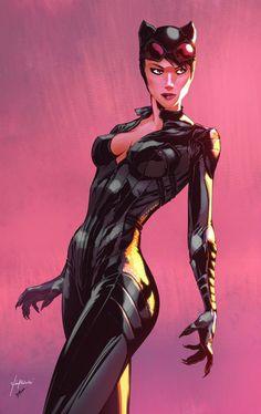Arkham Knight Catwoman by Leo Vitalis & Harrison yinfaowei Batgirl, Batman Et Catwoman, Nightwing, Supergirl, Catwoman Arkham City, Arkham Asylum, Catwoman Cosplay, Heros Comics, Dc Comics Art