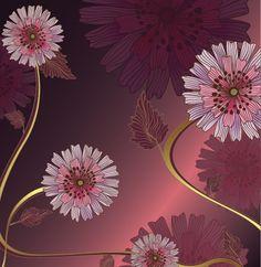 Vintage-Flower-Vector-Background