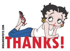 Thanks! For more Betty Boop graphics & greetings, go to:  http://bettybooppicturesarchive.blogspot.com/ - #BettyBoop wearing a tank top and jeans