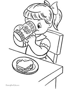 Kid coloring picture to print and color