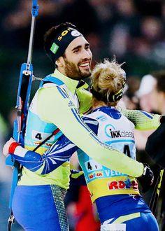 #Martin Fourcade#Marie Dorin Habert Hockey, Baseball, World Cup, Olympics, Skiing, Marie, Athlete, Celebrity, Snow