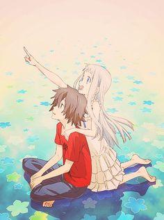 Anime: AnoHana / Ano Hi Mita Hana no Namae o Bokutachi wa Mada Shiranai Art Manga, Manga Anime, Anime Art, Anohana Anime, Anime Cosplay, Arte Sailor Moon, Animation, Fan Art, I Love Anime