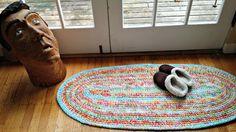 Ready to Ship Oblong Rugs/Oblong Rug/Rugs/Rug/Crochet Rugs/Crochet Rug/Handmade Rugs/Handmade Rug/Nursery Rugs/Nursery Rug/Bedside Rug