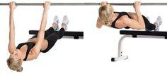 exercício remo invertido