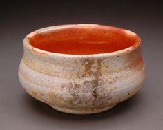 Wood Fired Shallow Haikaburi Bowl with Orange by YuishCeramics, $25.00