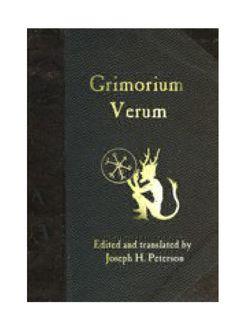 Grimorio Verum  Anitguo tratado de Alta Magia.