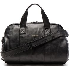 Common Projects Leather Duffel Bag (22,140 MXN) ❤ liked on Polyvore featuring men's fashion, men's bags, handbags, mens leather duffle bag, mens leather duffel bag, men's duffel bags and mens leather bags