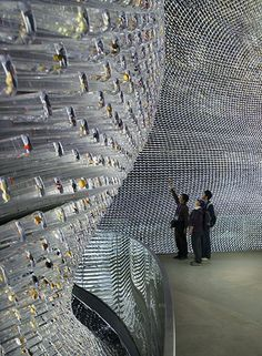 Heatherwick: The interior of the Seed Cathedral with visitors