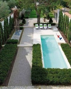 Lap Pool...Decor – Pools : A beautiful and properly maintained garden can certainly add color, vitality and liveliness to your small backyard, making it a much more pleasurable place to gathering and also swimming. This small backyard design ideas is truly adorable. -Read More –