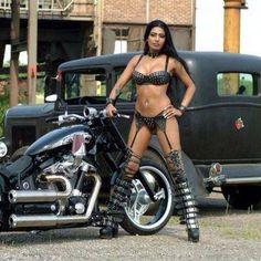 Photo by Johnny Smith Hot Bikes, Cool Motorcycles, Bikinis, Swimwear, Pin Up, Beautiful Women, Two Piece Skirt Set, Sexy, Clothes
