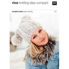 Hats in Rico Creative Twist Super Chunky - 126. Discover more Patterns by Rico at LoveKnitting. We stock patterns, yarn, needles and books from all of your favorite brands.