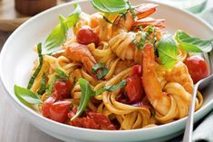 Chilli, Basil & Prawn Pasta