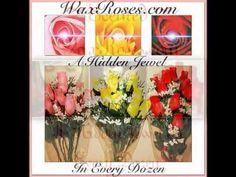 A hidden jewel in every dozen wax dipped roses!