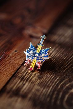 Mystical Cat Dagger pin by my bud Brian Steely. Now up in my shop and on my Etsy!