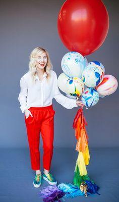 "Balloon Set : 11"" Marble Multi-Color"