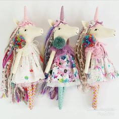 """322 Likes, 10 Comments - Jo Molony (@deerdarlingdolls) on Instagram: """"There are three unicorns left in my shop. Thank you with all my heart to the lovely ladies that…"""""""