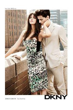 Spring 2012 DKNY. Models: Ashley Greene and Garrett Neff. Photographer: Inez and Vinoodh.