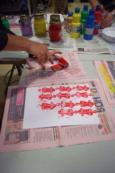 """Patterns"", workshop curated by Annalisa Casagranda, September Mart Rovereto www.it/educazione Workshop, September, Education, Patterns, Learning, Block Prints, Atelier, Work Shop Garage, Studying"