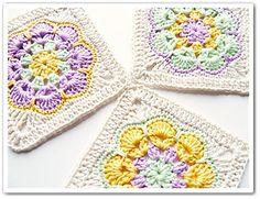 Crochet African Flower Square, http://crochetjewel.com/?p=9890