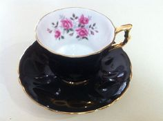 Royal Windsor vintage c. 1950s hand-painted tea by BuyfromGroovy