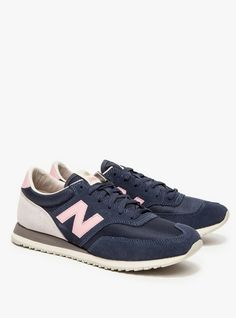 navy + pink NB seakers