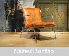 leren fauteuil santino - cognac