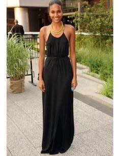 Long Black Summer Dress | rucetk