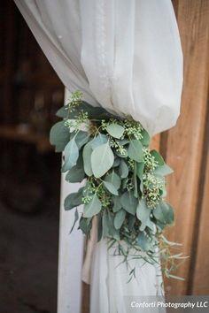 eucalyptus leaves wedding details / http://www.deerpearlflowers.com/greenery-eucalyptus-wedding-decor-ideas/2/
